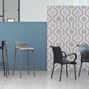 Duca Bar Stool & Regina + Dama Chairs
