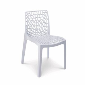 Gruvyer white outdoor chair