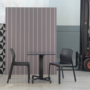 Ibisco Folding Table Base (Charcoal) & Bit Chairs (Charcoal)