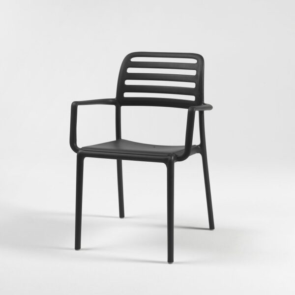 The NARDI Costa Outdoor Arm Chair in Charcoal