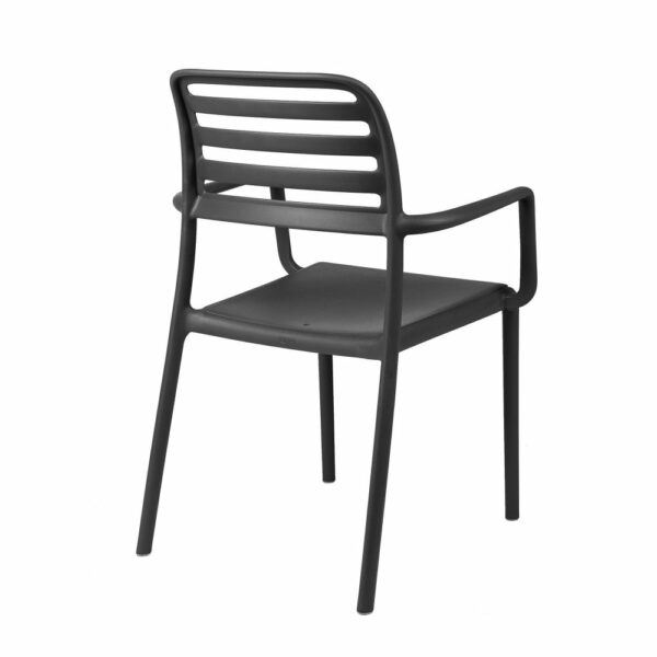The NARDI Costa Outdoor Arm Chair in Charcoal (View from Back)
