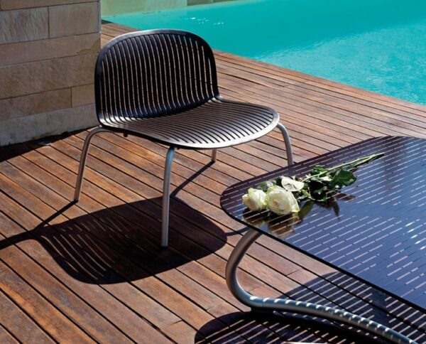 Ninfea Relax Lounge Chair - Charocal (Pictured With Loto Coffee Table)