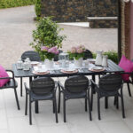 Palma Alloro 9 Piece Setting – Palma Outdoor Armchair & Alloro Table (Charcoal)