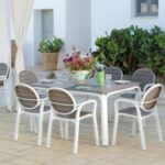 Palma Outdoor Armchair NZ on Patio with Alloro Table Set (Thumbnail)