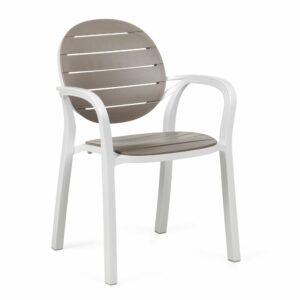 NARDI Palma Outdoor Chair - Taupe & White