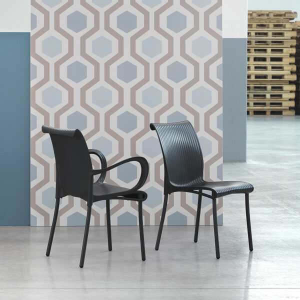 NARDI Regina Chair and Dama Chair in Charcoal