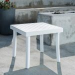Rodi Outdoor Side Table in White