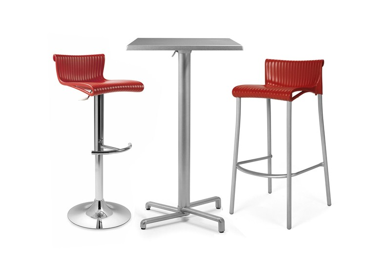 Scudo Folding Bar Leaner Base – Silver