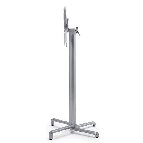 Scudo Folding Bar Leaner Base - Silver