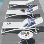 Spritz Coffee Table & Atlantico Sun Loungers – White
