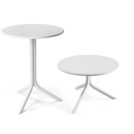 Spritz Table & Spritz Coffee Table - White