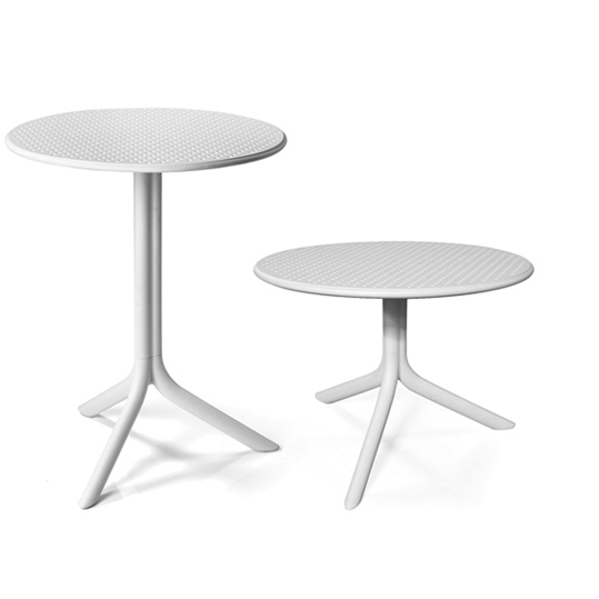 Step Table & Step Coffee Table - White