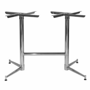 Tasman Extended Table Base - Chrome (Double Table Base)
