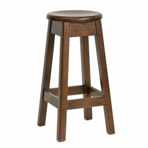Texas Oak Bar Stool - Walnut Colour