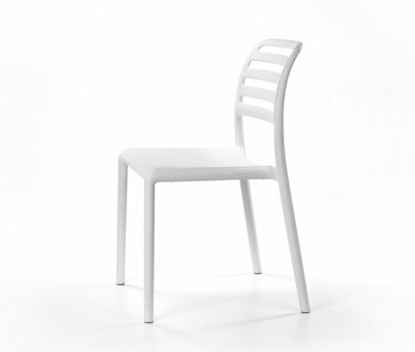 NARDI The Costa Bistro Chair in White (Profile View)