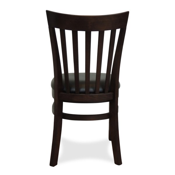 Windsor Wooden Dining Chair – Dark Walnut (Back View)