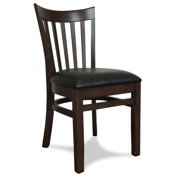 Windsor Wooden Dining Chair - Dark Walnut (Showroom View)