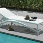Atlantico Sun Lounger – White (Pictured on Tiles by the Pool)