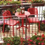 Costa Balcony Setting in Red