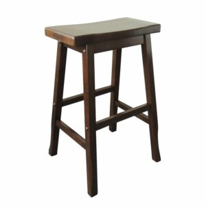 Osaka Kitchen Counter Bar Stool - Dark Walnut