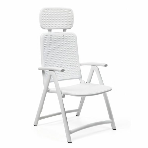 NARDI Aquamarina Outdoor Recliner Chair - White