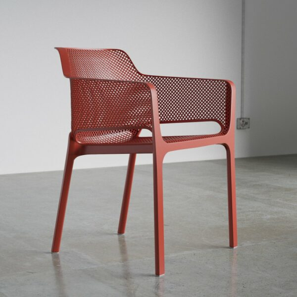 The NARDI Net Chair in Coral Red