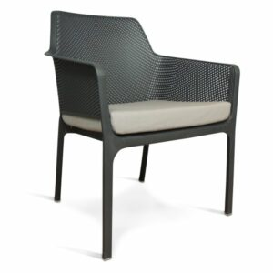 NARDI Net Relax Lounge Chair - Charcoal with Grey Cushion