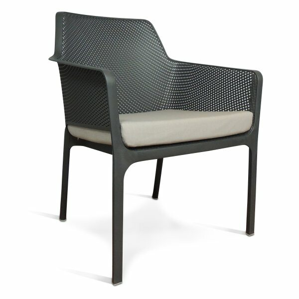 Net Relax Lounge Chair - Charcoal with Grey Cushion