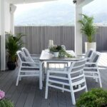 7 Piece Outdoor Dining Setting, Aria Arm Chairs & Alloro table NZ