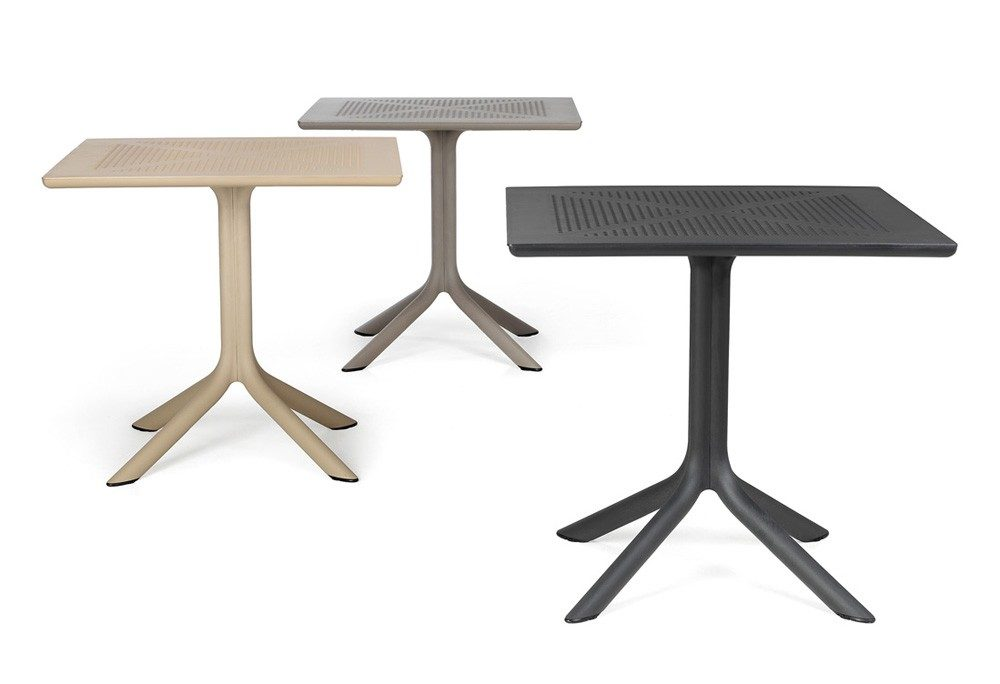 Clip Tables in Charcoal, Taupe & Havana