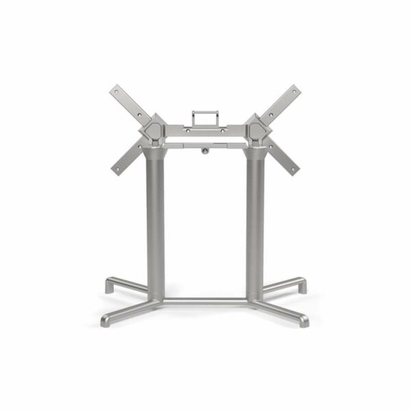 NARDI Scudo Double (Extended) Table Base - Silver