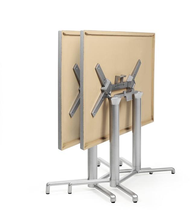 Scudo Double Folding Table Base – Folded & Horizontally Stacked