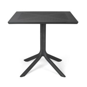 Clip 80 Outdoor Patio Table – Charcoal