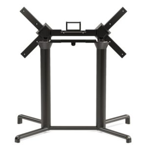Scudo Double Folding Table Base - Charcoal
