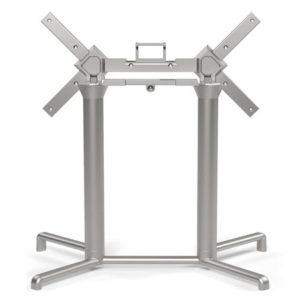 Scudo Double Folding Table Base - Silver