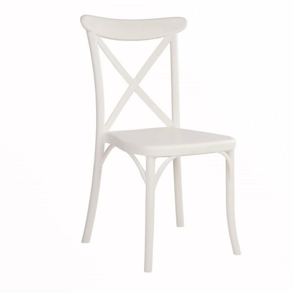 CrossBack Chair U2013 Ivory White