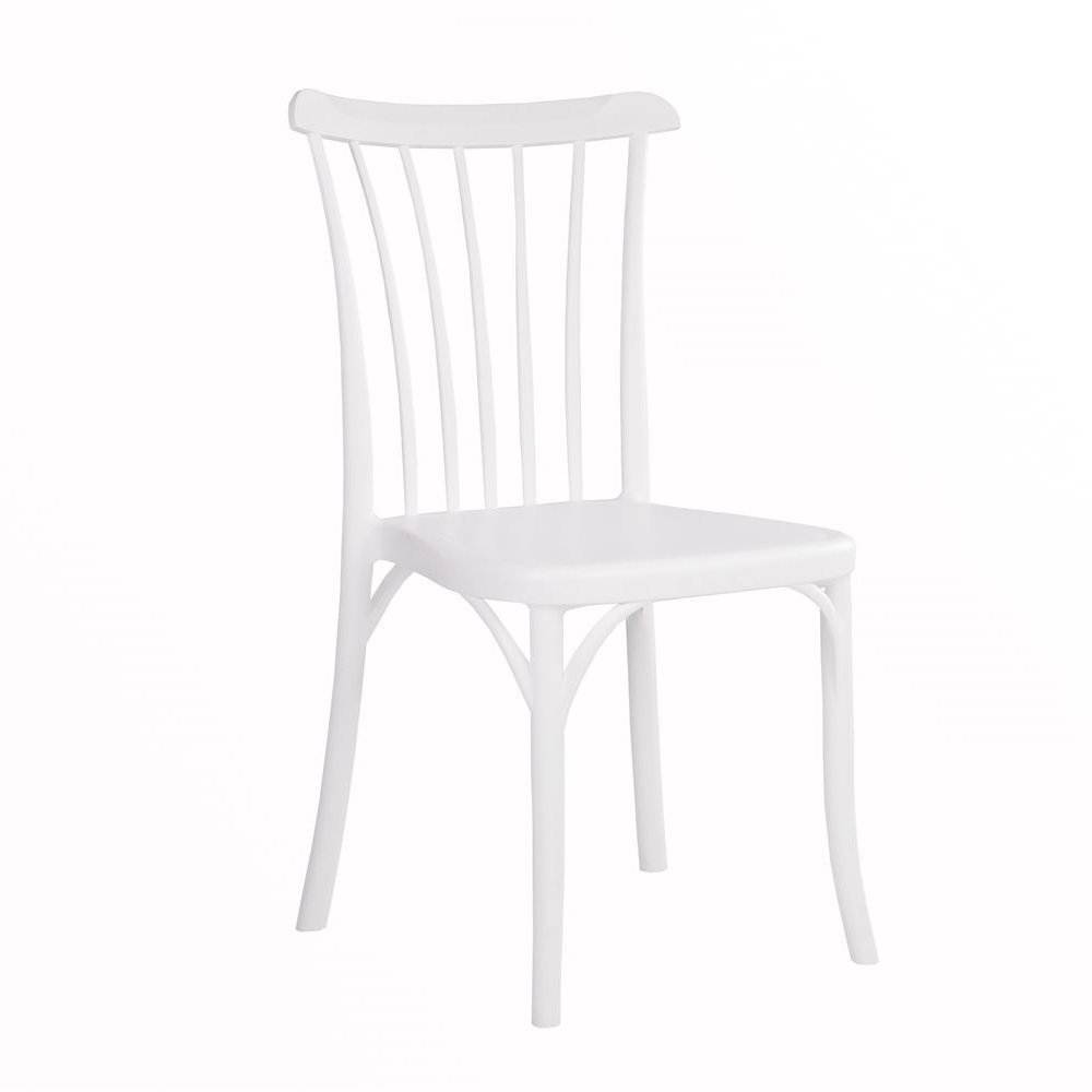 Spindle Back Chair - White