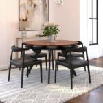 ByDezign Elbow Chair Replica – Black around Dining Table