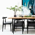 ByDezign Elbow Chair Replica – Black in Dining Setting