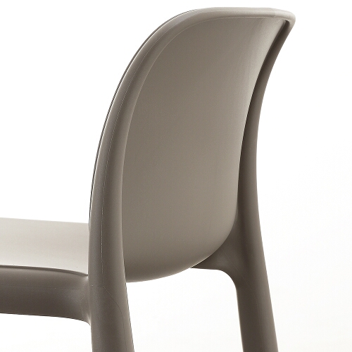 NARDI Faro Breakfast Bar Stool in Taupe back and seat close up