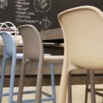 Faro-Breakfast-Bar-Stools-at-wooden-bench-indoor-cafe