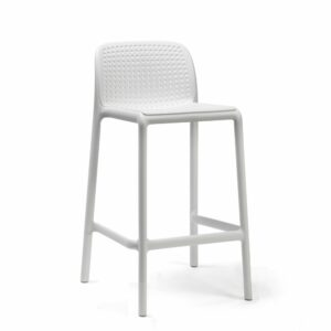 NARDI Lido Outdoor Counter Height Stool – White