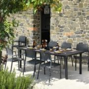 Levante 7 Piece Dining Set Charcoal Thumbnail