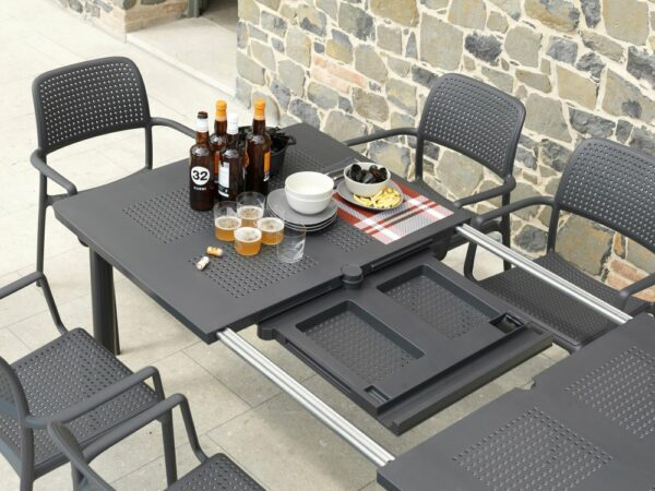Levante 7 Piece Dining Set - Extending to revel another panel