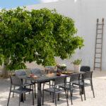 Levante 7 Piece Dining Set outdoor insitu charcoal nz