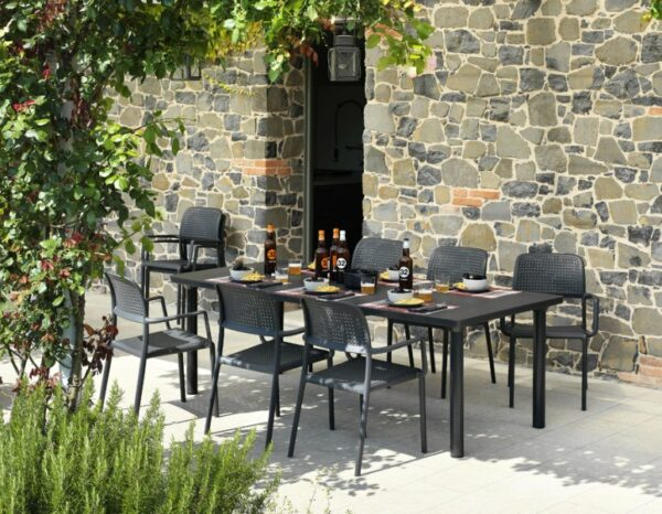 Levante 7 Piece Outdoor Dining Setting - Charcoal