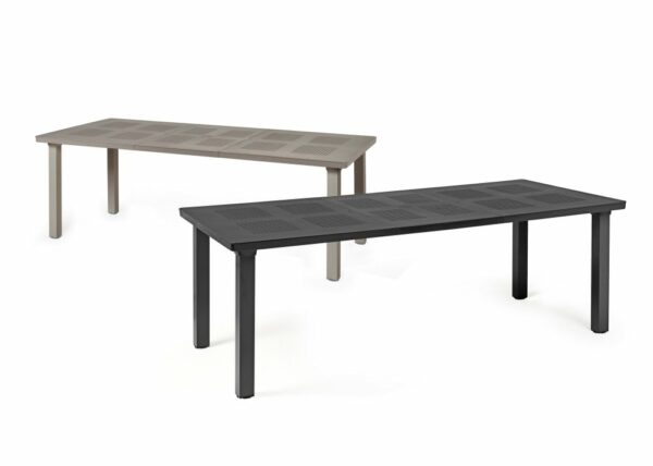 Levante Table in both Taupe & Charcoal