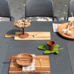 outdoor furniture nz Levante 7 Piece Dining Set charcoal