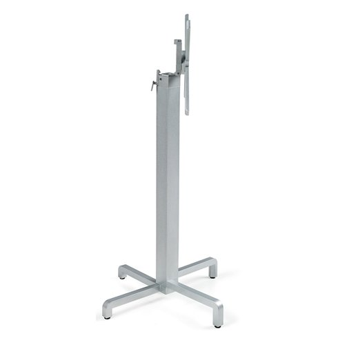 Ibisco Folding Bar Leaner Base - Silver