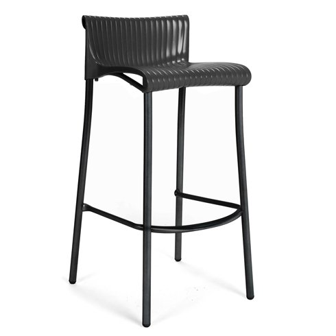 Duca Tall Bar Stool – Charcoal